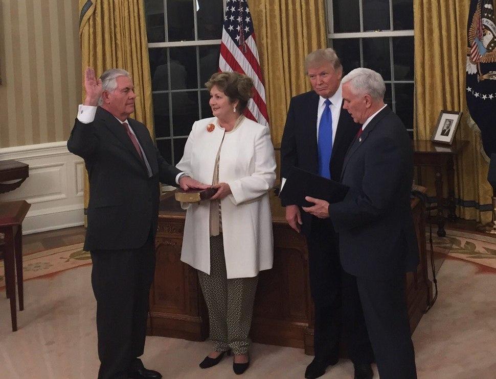Tillerson sworn in