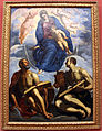 Tintoretto, madonna col bambino tra gli evangelisti marco e luca, 1570-75 ca.JPG