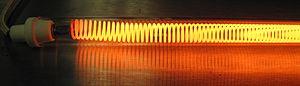 Overheating (electricity) - Image: Toaster quartz element