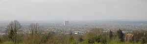 Tolworth - View of Tolworth Tower from Epsom Downs