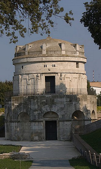 Goths - The Mausoleum of Theodoric, a Gothic monarch, in Ravenna, Italy