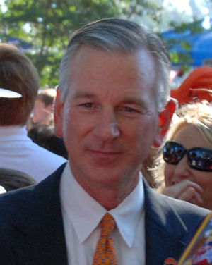 Tommy Tuberville - Tommy Tuberville during Tiger Walk prior to the 2007 Auburn game with Ole Miss