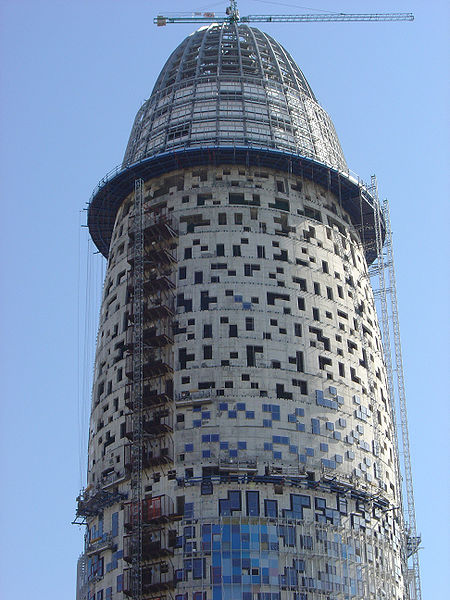 Image:Torre agbar barcelona construction1.jpg