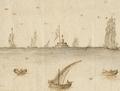 Torre de Bogio - Vista e perspectiva da Barra, Costa e Cidade de Lisboa (Bernardo de Caula, 1763).png