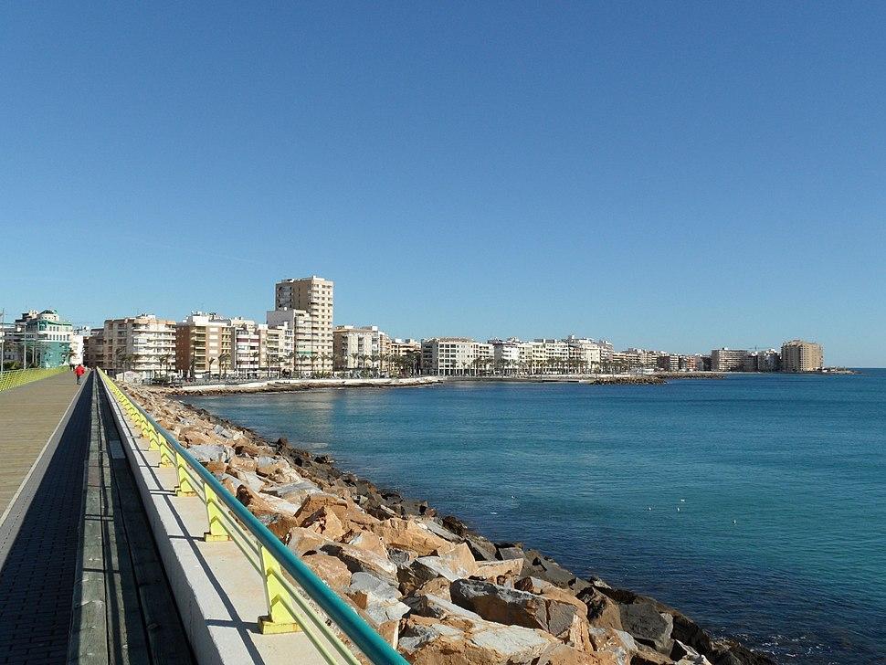 Torrevieja. Vista desde el dique de Levante