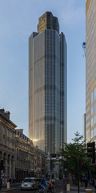 Tower 42 - Tower 42 is the third-tallest building in the City of London