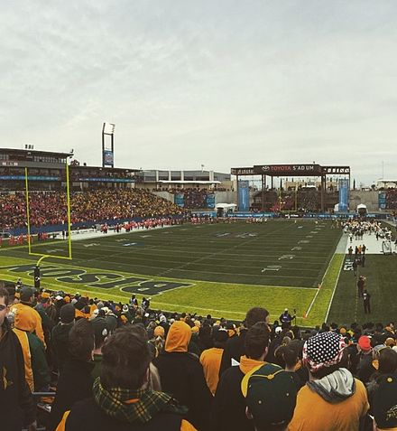 2015 FCS National Championship football game between North Dakota State and Jacksonville State at Toyota Stadium. Toyotastadiumfcs.jpg