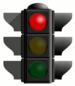 English: red traffic light Español: señal de t...