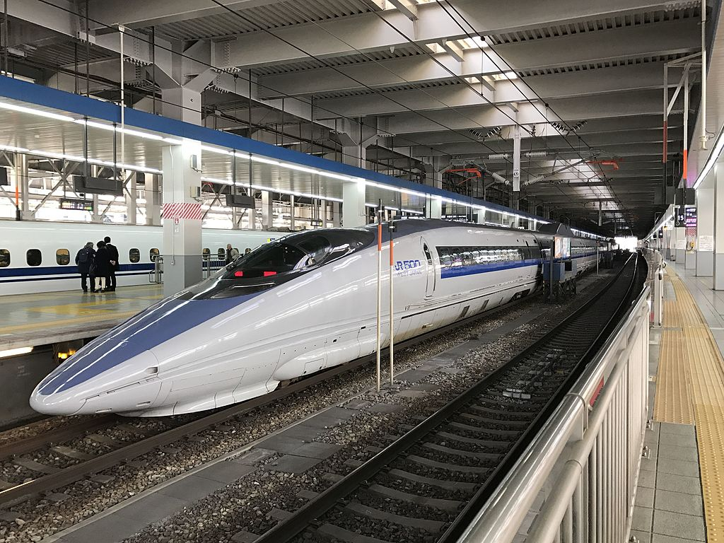 Train of San'yo Shinkansen at Hakata Station