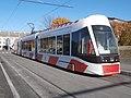 Tram 502 at Uelemiste jaam tram Stop in Tallinn 20 October 2015.jpg