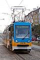 Tram in Sofia near Russian monument 037.jpg