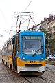Tram in Sofia near Russian monument 038.jpg
