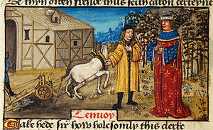 Peniarth 481 - Image: Translator addressing his master