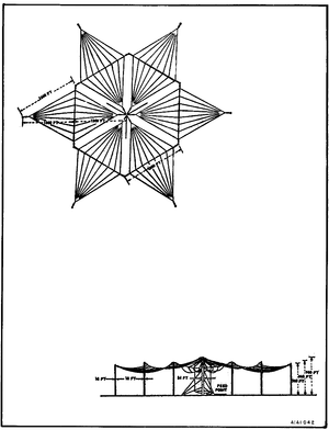 Naval Communication Station Harold E. Holt - Diagram of a Trideco type antenna like that installed at Harold E. Holt.