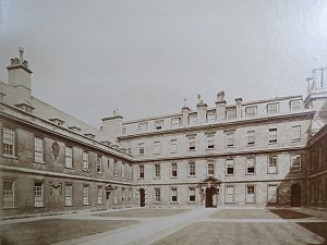 James Burrough (architect) - The Front Court at Trinity Hall, Cambridge, refaced by Burrough in 1742–5. Photographed c. 1870.