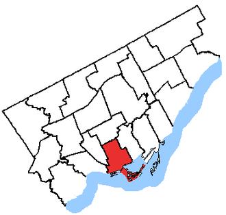 Trinity—Spadina - Trinity—Spadina in relation to the other Toronto ridings (2003 boundaries)