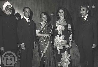 Swaran Singh - Mohammad Amir Khatamiو his wife and Asadollah Alam, Indira Gandhi and Sardar Swaran Singh during his trip to Iran