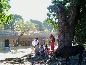 Sakalava people - Tromba gathering in Madagascar.