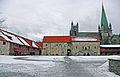 Trondheim - Indre Kongsgård sett mot Erkebispegårdens eldre del.jpg