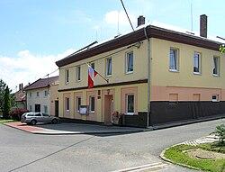 Troubky-Zdislavice, Troubky, municipal office.jpg