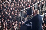 President Donald J. Trump delivers remarks to military service members at Marine Corps Air Station Miramar, Tuesday, March 13, 2018, in San Diego, California.