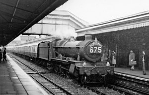Truro railway station - Down 'Cornishman' express in 1958