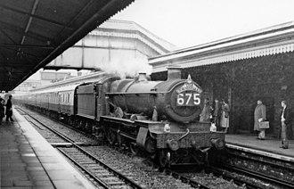 Truro railway station - Down 'Cornishman' express in 1958