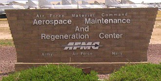 309th Aerospace Maintenance and Regeneration Group - Welcome sign at AMARG before its 2007 name change.