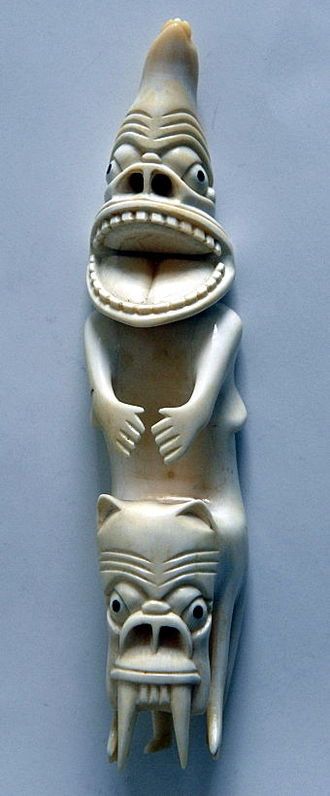 Tupilaq - A carved representation of a tupilak, Greenland