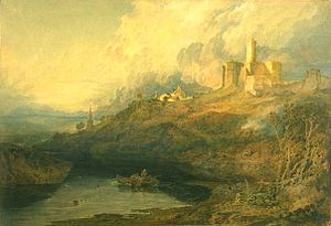 Warkworth Castle - J. M. W. Turner painted Warkworth Castle in 1799. The ruins were attracting tourists as early as the mid 18th century.