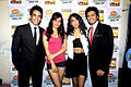 Tusshar Kapoor, Neha Sharma, Sarah Jane Dias, Riteish Deshmukh at the Promotion of 'Kyaa Super Kool Hain Hum' 01.jpg