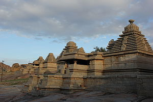 Kadamba architecture - Two Shiva temples on Hemakuta hill at Hampi