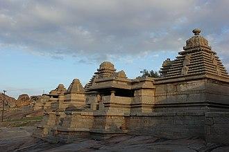 Kadamba architecture - Two Shiva temples on Hemakuta hill at Hampi