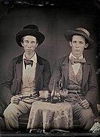 Two young men drinking liquor - 1850.jpg