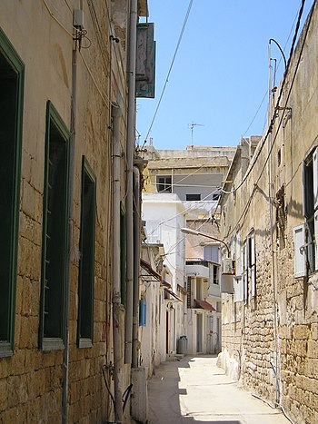 A typical narrow street in the Christian quarter