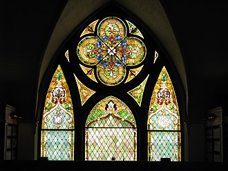 Tyrrell Historical Library - Image: Tyrrellstainedglass