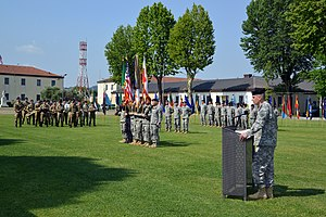Caserma Ederle - Change of command ceremony at Caserma Ederle.