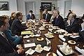 U.S. Defense Secretary Ash Carter, third left, and British Defense Secretary Michael Fallon, third right, meet at the Pentagon, March 11, 2015 150311-D-NI589-1091.jpg