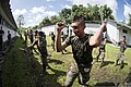 U.S. Marines assigned to a landing attack subsequent operations team conduct a combat conditioning exchange with Guatemalan marines as part of U.S. Marine Corps Martial Arts Program training during Southern 140819-N-XQ474-218.jpg