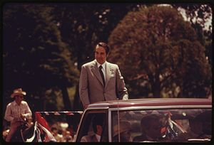 Bob Dole - Dole in Emporia, Kansas, 1974.  Photo by Patricia DuBose Duncan.