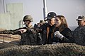 U.S. Vice President Joe Biden, center left, points out an area of North Korea to his granddaughter, Finnegan Biden, center right, Dec. 7, 2013, during a visit to Observation Post Ouelette in South Korea 131207-N-SZ959-227.jpg
