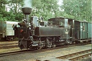 Jindřichohradecké místní dráhy - U 37 locomotive in Jindřichův Hradec
