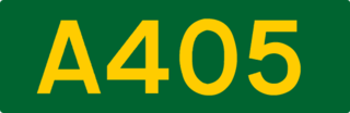 A405 road road in England