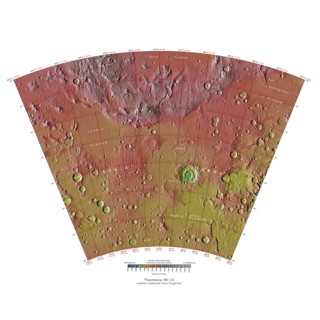 Thaumasia quadrangle one of a series of 30 quadrangle maps of Mars