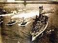 USS Arkansas (BB-33), departs from New York City, New York, January 16, 1915 (24894151189).jpg