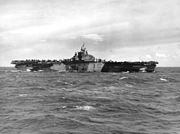 USS Franklin (CV-13) underway at sea on 1 August 1944 (80-G-367248)