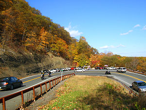 U.S. Route 44 in New York - Hairpin turn on US 44 and NY 55 near Mohonk Preserve in New York's Shawangunk Mountains.