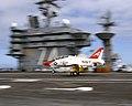 US Navy 030314-N-9769P-130 A T-45C Goshawk makes a touch and go pass on the flight deck aboard USS John C. Stennis (CVN 74).jpg