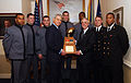 US Navy 040122-N-2568S-001 Cadets from the U.S. Military Academy West Point, and Midshipmen from the U.S. Naval Academy join Secretary of the Navy, the Honorable Gordon R. England.jpg