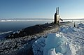 US Navy 040419-N-6027E-003 The Los Angeles-class attack submarine USS Hampton (SSN 767) surfaced at the North Pole.jpg